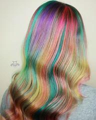 Unicorn Color Melt with Deep Waves (HAIR RAIZERS SALON) Tags: bradenton brighthair neonhair rainbowhair sarasota unicorncolormeltwithdeepwaves