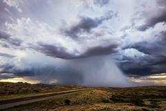 Highway 191 (Mike Olbinski Photography) Tags: 20180719 canon1124mmf4 canon5dsr desert hail highway191 hills lightning monsoon rain roads stormchasing thunderstorm