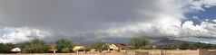 Double Low Bow (northern_nights) Tags: weather sky clouds atmosphericoptics arizona vaul rainbow panorama pano