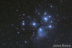 Pleiades (M45) (J. Brown Photography) Tags: james brown photography alpha william optics gt81 2018 heq5pro heq nebula stars astrophotography astronomy star cluster constellation seven sisters pleiades m45 messier 45