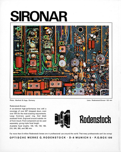 Rodenstock-Sironar lenses advertisement. - a photo on Flickriver 2bc1b7d03d1d