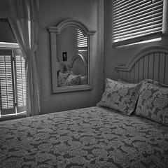 B&W room (hansntareen) Tags: bw bedroom shades blinds mirror pillows