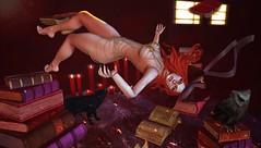 ♚ Look #604 ♚ (Caity Saint) Tags: secretposes magic witch sl secondlife pixels backdrop sexyprincess chain tableauvivant catwa maitreya
