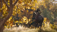 Brisk Days Of Autumn (nicksoptima) Tags: trees horse autumn fall ps4 assassins creed odyssey ubisoft screenshot landscape