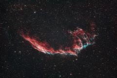 Eastern Veil Nebula (AstroBackyard) Tags: nebula astrophotography space astronomy veil astrobackyard telescope