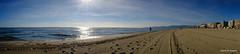 Traces de la plage (jpto_55) Tags: plage mer sable méditerranée canetenroussillon panorama xt20 fuji fugifilm voigtlander15mmf45superwideheliarii voigtlanderlens pyrénéesorientales france roussillon
