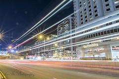 2018年09月29日 - 怡和午炮 (JoeHoWin) Tags: 夜景 night 夜 燈 景深 lamp 車 車軌 light trail