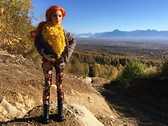 Bald Mountain Trail (branbeckman) Tags: beckylynch dollphotography wwesuperstarsdoll alaska offroad autumn