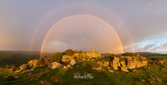 Prime Arc (http://www.richardfoxphotography.com) Tags: meltor tor rainbow secondaryrainbow sunrise clouds rain panorama dartmoornationalpark sunriserainbow granite sky outdoors