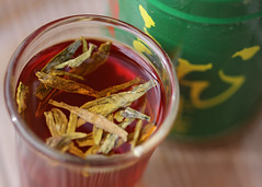 Longjing Tea Shot (Helen Orozco) Tags: macromondays remedy longjingtea dragonwelltea infused shotglass