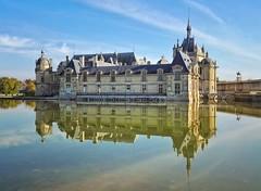 Chatilly Castle (Aziz Peps) Tags: nikonflickraward nikon beautiful parisian parisien paris frenchy reflexion medieval architecture travel trip france french