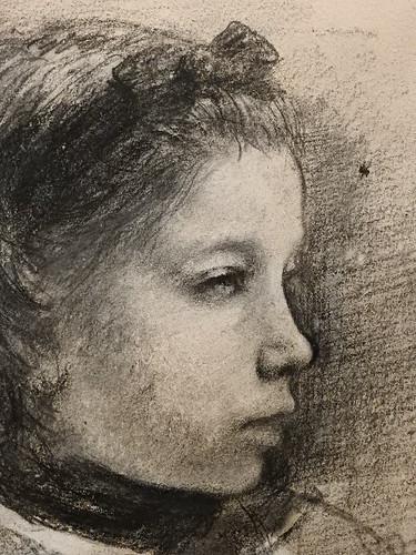 DEGAS Edgar,1858-67 - La Famille Bellelli, Giulia, Etude (Orsay) - Detail 04