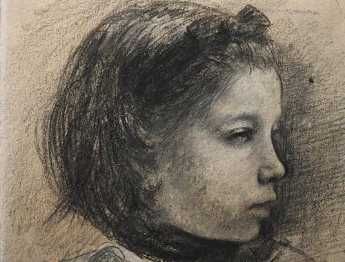 DEGAS Edgar,1858-67 - La Famille Bellelli, Giulia, Etude (Orsay) - Detail 08
