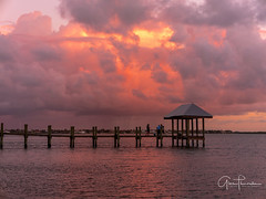 Fisherman's Paradise (Thüncher Photography) Tags: fujifilm gfx50s fujigfx50s mitakonspeedmaster85mmf12 mediumformat scenic landscape waterscape intracoastal sky clouds colors reflections sunset pier dock fishing hutchinsonisland stuart florida southeastflorida tropical island