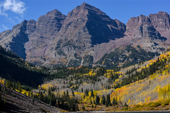 The Maroon Bells (nbalsaleh) Tags: aspen colorado fall autumn colors trial hike trees landscape d7200 wideangle photography lake september maroon bells mountains 50mm 1020mm nikon clouds leaves