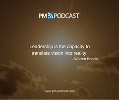 """""""Leadership is the capacity to translate vision into reality."""" - Warren Bennis (Cornelius Fichtner) Tags: pmp projectmanager leadership"""