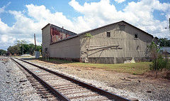 Warehouse 3 (Neal3K) Tags: ga georgia griffin kodakektar100 olympusstylusinfinity rr railroad
