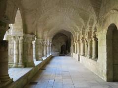 Cloître de l'Abbaye royale Saint-Vincent (XIe-XIXe), Nieul-sur-l'Autise (85) (Yvette G.) Tags: cloître nieulsurlautise vendée 85 paysdelaloire architecture artroman église abbaye