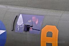 Friendly gunner... (Ian A Photography) Tags: aeroplanes aircraft airshow aviation b17 bomber boeing duxford duxfordlegends flyingfortress flyinglegends gunner nikon planes sallyb warbirds warplanes