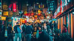 Night At Thamel (3/4) (Iftakhar Hasan) Tags: asia nepal kathmandu thamel night street crowd travel city neon olympus panasonic olympusomdem10markiii panasoniclumixg25mmf17asph ठमेल