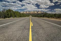 Sur la route du Zion Park (Olivier Rapin) Tags: 20180915 sony1650mm sonyalpha77mkii usa road nuages montagnes clouds montains utah explore
