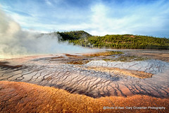 Prismatic Spring (Gary Grossman) Tags: spring geothermal water clouds sky yellowstone ynp landscape park nature forest wyoming garygrossmanphotography grandprismaticspring yellowstonenationalpark landscapephotography naturephotography
