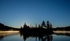 First Light, Wassataquoik Lake (jtr27) Tags: dscf1988xl jtr27 fuji fujifilm xt20 xtrans xf 1855mm f284 rlmois wassataquoik lake maine newengland sunrise dawn fog mist hike hiking backpacking