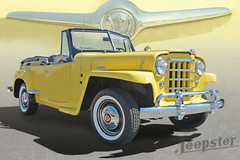 1950 Willy Overland Jeepster (Brad Harding Photography) Tags: 1950 50 willys willysoverlandjeepster jeepster antique whitewalls chrome restoration restored willysoverlandmotors jeep crossover yellow
