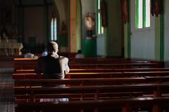 Silence man (Alessia Rossi Photography) Tags: church pray men light lights shadows consolata contrast canon