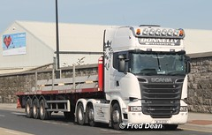 Donnelly Transport Scania (WJZ6321). (Fred Dean Jnr) Tags: september2015 dublinport dublin donnellytransport scania r520 v8 wjz6321 eastwallroaddublin truck lorry