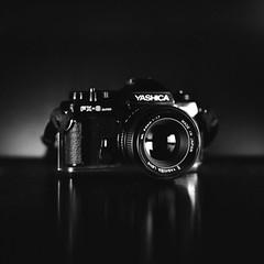 Yashica FX3 Super 2000 (•Nicolas•) Tags: analog bronica camera collectible collection film fp4 ilford s2 vintage nicolasthomas 120 mediumformat rondinax antique light studio led