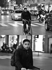 [La Mia Città][Pedala] (Urca) Tags: milano italia 2018 bicicletta pedalare ciclista ritrattostradale portrait dittico bike bcycle nikondigitale scéta biancoenero blackandwhite bn bw 115844
