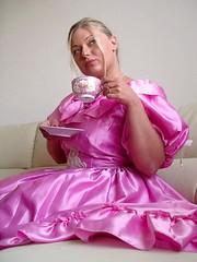 Shiny satin dress (Paula Satijn) Tags: girl babe lady gorgeous stunning beautiful pink dress gown ballgown satin silk shiny blond blonde tea sexy sensual skirt cute sweet adorable hot lovely classy stylish elegant elegance