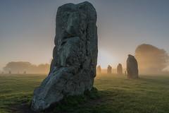 Avebury Sunrise in the Fog (paul.humphrey82) Tags: avebury stones standingstones wiltshire nationaltrust stonecircle fog foggy sunrise stonehenge