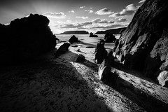 Marloes Sunset Monochrome 1 (Paul Timlett) Tags: wales beach landscape sunset marloessands bnw blackwhite nikond810 monochrome seascape pembrokeshire sea