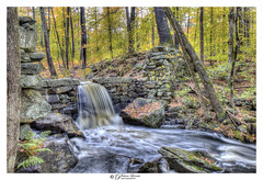 The Work Of Pioneers And Settlers (Pearce Levrais Photography) Tags: dam fall autumn autumnal foilage autumnleaves canon hdr explore nh newhampshire picoftheday photooftheday old stone exposure