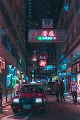 Tsim Sha Tsui, HK (mikemikecat) Tags: hong kong night tsimshatsui neon neonlights neonsign mikemikecat moody tones