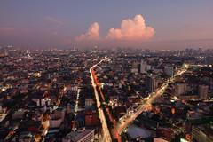 Pinkish Glow (arbivi) Tags: sunset dusk pink pinkish cityscape urbanscape skyline sampaloc metro manila philippines canon 60d tamron arbivi raymondviloria