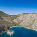 Luftbild Nikolaos Bucht Strand Hydra