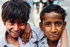 Smiling Children During Holi (AdamCohn) Tags: adam cohn uttar pradesh india mathura vrindavan boys children holi pilgrim pilgrimage pilgrimmage pilgrims wwwadamcohncom adamcohn uttarpradesh isapurbanger