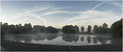 bos-winter-morning_panorama-250918 (Peadingle) Tags: sunrise september early morning mist apex park lake highbridge somerset