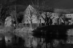 Canalside (Clive Varley) Tags: lancaster lancasterkendalcanal bw march2018 affinityphoto