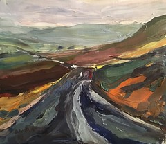 Dales Hills (Captain Wakefield) Tags: weather impressionist sky hills moody yorkshire dales artist burton samuel oil acrylic art landscape painting