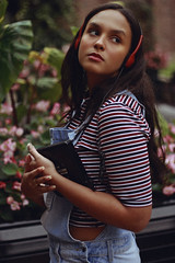 i'm yr baby, contd (TheJennire) Tags: photography fotografia foto photo canon camera camara colours colores cores light luz young tumblr indie teen adolescentcontent ootd outfit 2018 50mm carmel indiana teenmodel stripes fashion style unitedstates usa eua autumn fall headphones discman retro 90s nature musicvideo makeup hair