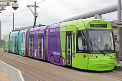 Nottingham Express Transit 211 (Sam Pedley) Tags: 211 robinhood net at65 incentro bombardier adtranz bombardierincentro nottinghamstationstop nottinghamstation nottinghamexpresstransit deliveroo vehicle tram transport