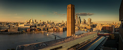 Another view from Tate modern (mad_airbrush) Tags: 5d 5dmarkiii london england gb greatbritain uk unitedkingdom themse thames tatemodern skyline skyscrapers sundown panorama architecture architektur 2470mm ef2470mmf28lusm