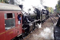 Great Central Railway Rothley Leicestershire 7th October 2018 (loose_grip_99) Tags: greatcentral railway railroad rail train rothley leicestershire eastmidlands england uk steam engine locomotive preservation transportation lms stanier 8f 280 48624 ivatt 2mt 260 46521 britishrailways standard2 78018 passing doubleheaded autumn gala gassteam uksteam trains railways october 2018