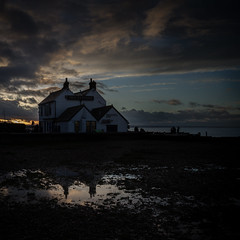 the pub in a box....the Neptune. (stocks photography.) Tags: theneptune whitstable michaelmarsh seaside photographer photography beach coast pub sunset dusk neptune cinematic atmospheric natural golden weather