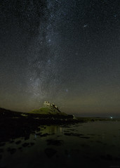 100 Billion Stars Over Lindisfarne Castle (ttarpd) Tags: lindisfarne castle holy island coast sea water rock shore tide causeway landscape nature northumberland north east england uk milky way night sky star stars astro astrophotography gb britain greatbritain