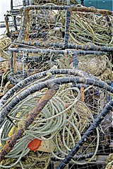 Who Can Resist A Well Used Crabpot !? (sswj) Tags: crabpot weathered docklife fishinggear pillarpointharbor halfmoonbay sanmateocounty northerncalifornia leica dlux4 composition availablelight existinglight naturallight scottjohnson california pacificcoast westcoast abstraction abstractreality abstract